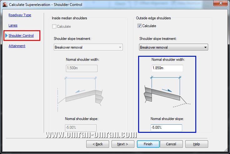 در قسمت Shoulder Control مشخصات را مانند شکل وارد کنید.