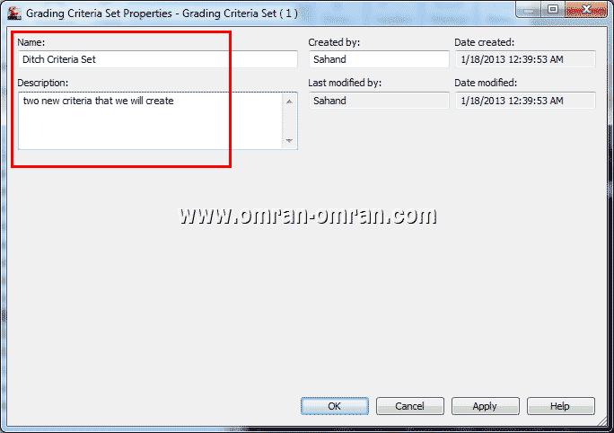 Name و Desciption را مطابق شکل پر کنید و روی Ok کلیک کنید.
