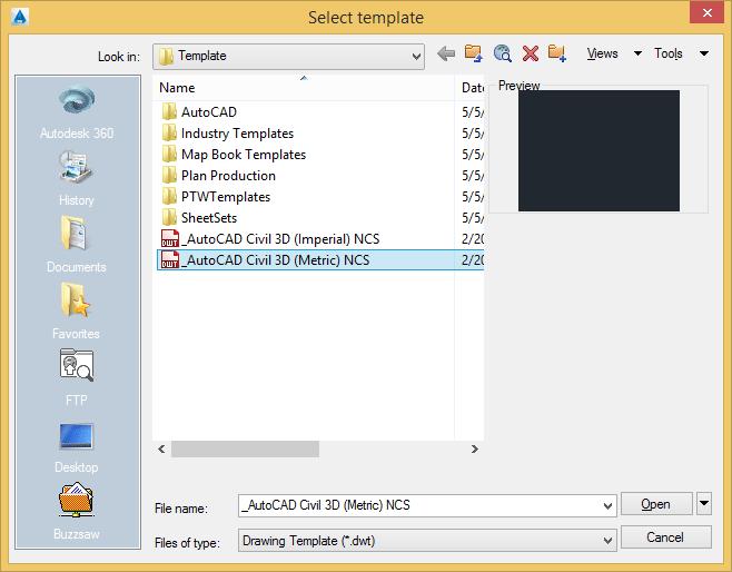 نوع فایل Metric را انتخاب کنید.