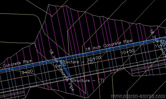 نامگذاری تمام لوله های موجود در پلان