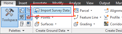 وارد کردن Data نقشه برداری به Civil3D